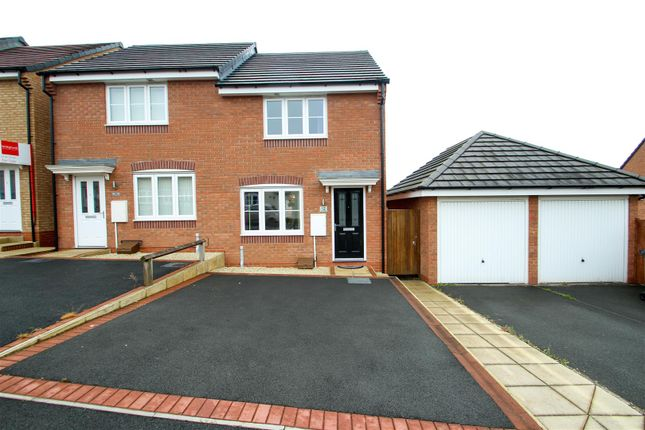 Thumbnail Semi-detached house for sale in Lamphouse Way, Wolstanton, Newcastle