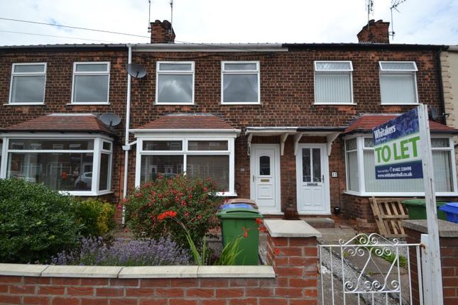 Thumbnail Terraced house to rent in Bedford Road, Hessle