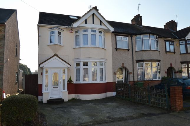 Thumbnail End terrace house for sale in Essex Road, Romford