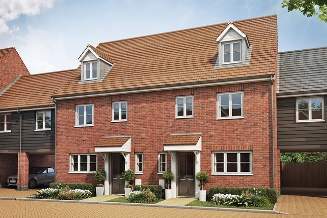 "Thumbnail Semi-detached house for sale in ""The Leicester Variant "" at Folly Lane, Hockley"