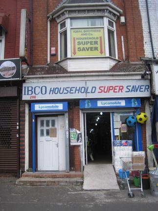 Retail premises to let in Stratford Road, Sparkbrook, Birmingham.