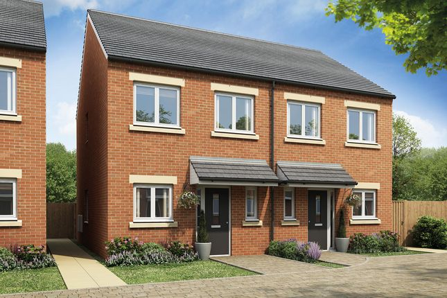 Thumbnail Semi-detached house for sale in Manorfields, Burton Road, Castle Gresley, Swadlincote