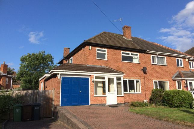 Thumbnail Semi-detached house to rent in Kingshurst Road, Shirley, Solihull