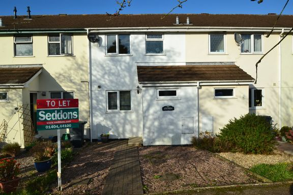 Thumbnail Terraced house to rent in Rosewell Close, Honiton