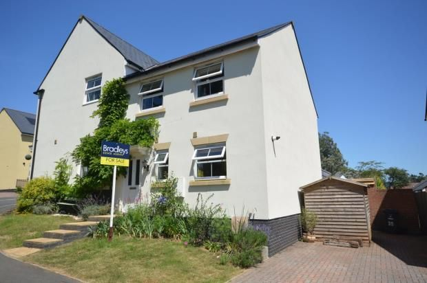 Thumbnail Semi-detached house for sale in Sampson Close, Sidmouth, Devon
