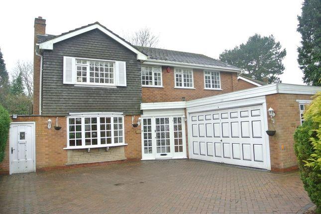 Thumbnail Detached house to rent in Claverdon Drive, Little Aston, Sutton Coldfield