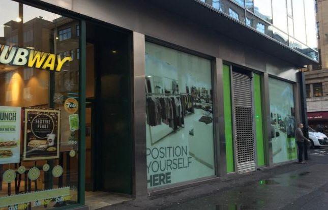 Retail premises to let in 76 Waterloo Street, Glasgow