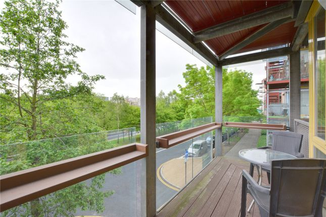 Balcony of Becquerel Court, West Parkside, Greenwich, London SE10
