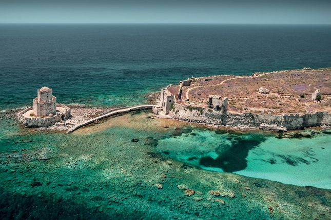 Costa Navarino Methoni Castle Surrounded By Sea