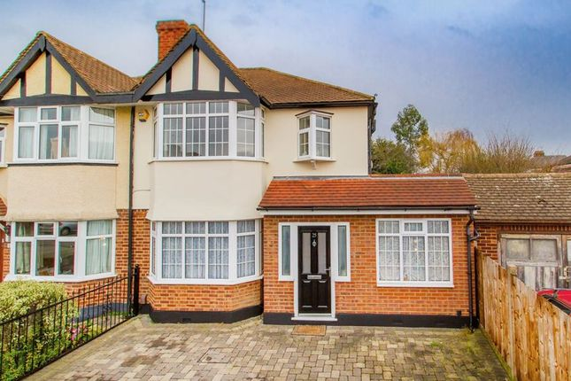 Thumbnail Semi-detached house for sale in Highland Avenue, Loughton