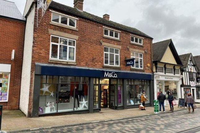 Thumbnail Retail premises for sale in 28-30 High Street, Uttoxeter, Staffordshire