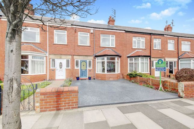 Thumbnail Terraced house for sale in Paignton Avenue, Whitley Bay