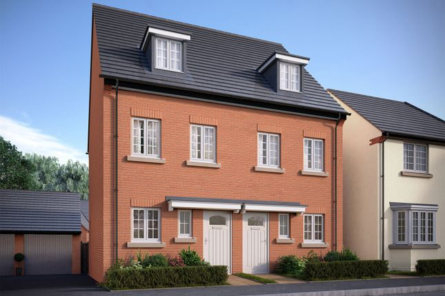 """Thumbnail Semi-detached house for sale in """"The Greetham"""" at Bedford Road, Great Barford, Bedford"""