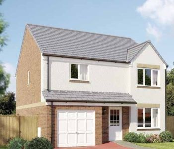 "Thumbnail Detached house for sale in ""The Balerno"" at Dunlop Road, Stewarton, Kilmarnock"