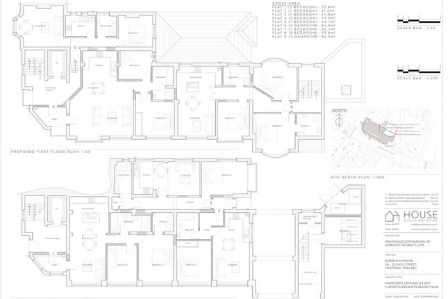 Revision C  Proposed Ground And First Floor Plan