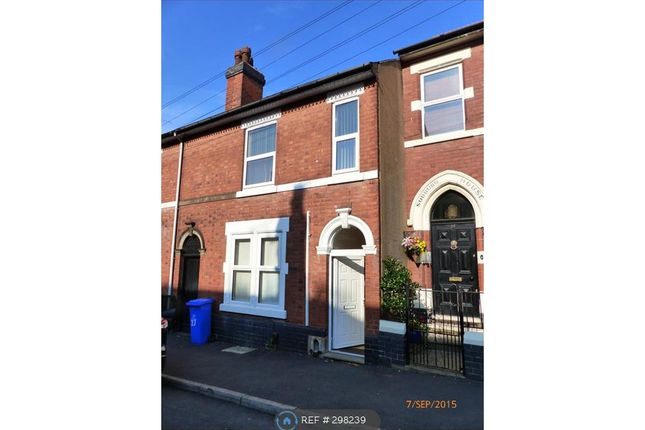 Thumbnail Terraced house to rent in Sudbury Street, Derby