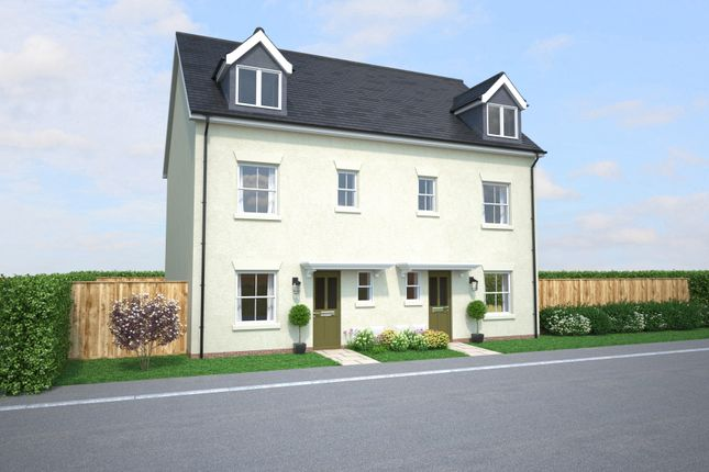 Thumbnail Semi-detached house for sale in Off Gilbert Road, Bodmin, Cornwall