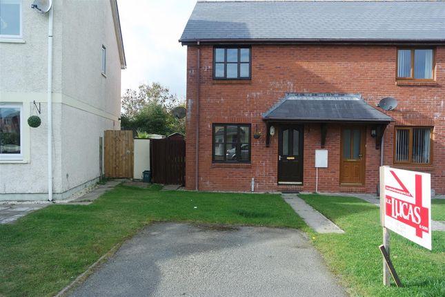 Thumbnail Semi-detached house for sale in Tudor Gardens, Merlins Bridge, Haverfordwest