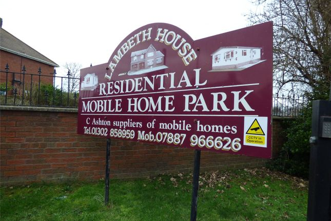 Site Entrance of Lambeth House Residential Mobile Ho, Lambeth Road, Doncaster, South Yorkshire DN4