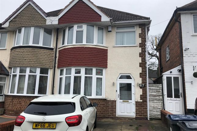 Thumbnail Semi-detached house to rent in Elmcroft Road, Yardley, Birmingham
