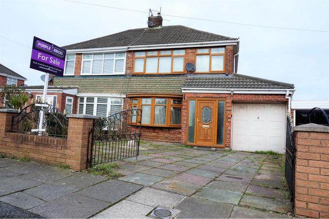 Thumbnail Semi-detached house for sale in Hazel Avenue, Kirkby