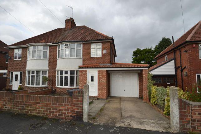 Thumbnail Semi-detached house to rent in Lidgett Grove, Boroughbridge Road, York