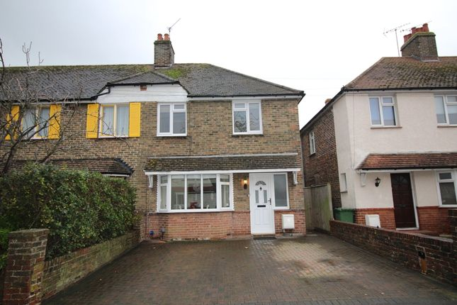 Thumbnail Semi-detached house for sale in Queens Crescent, St Anthonys, Eastbourne