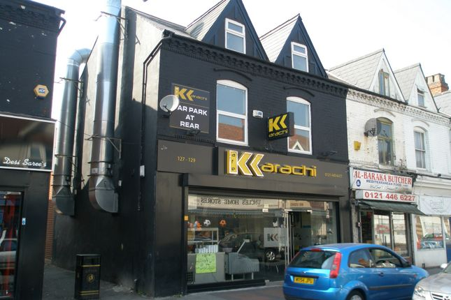 Thumbnail Restaurant/cafe to let in 127-129 Ladypool Road, Birmingham