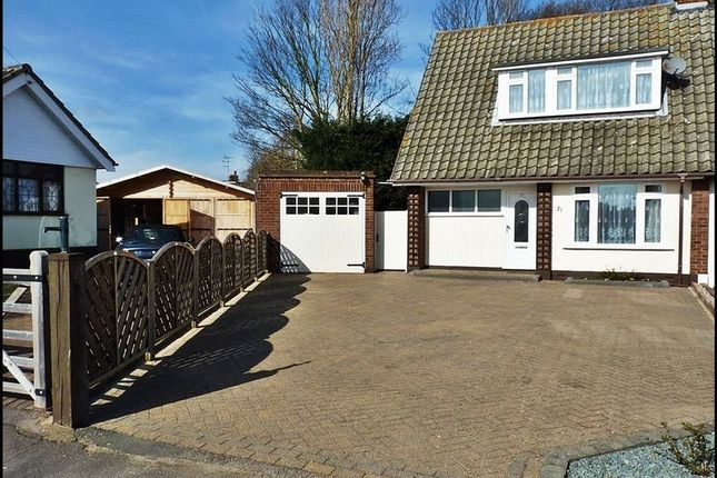 Thumbnail Semi-detached house for sale in Graham Close, Hockley, Essex