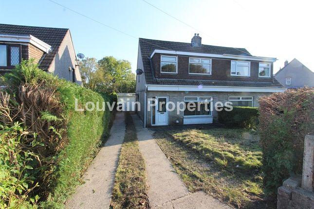 Thumbnail Semi-detached house to rent in Bush Bach, Nantybwch, Tredegar, Blaenau Gwent.