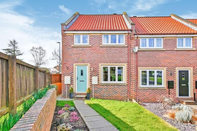 Thumbnail End terrace house for sale in Silver Meadows, Barton, North Yorkshire, Darlington