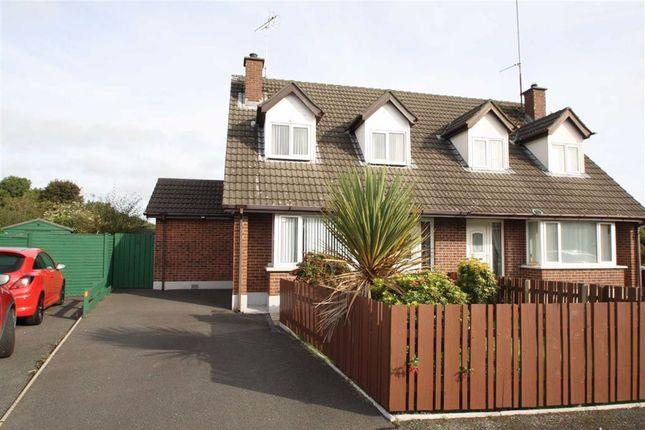 Thumbnail Semi-detached bungalow for sale in Lissara Close, Crossgar, Downpatrick