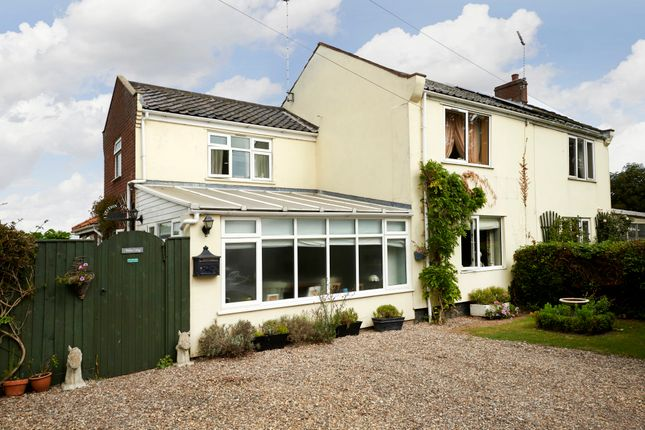 Thumbnail Semi-detached house for sale in 1 Station Cottage, Station Road, Aldeby, Beccles