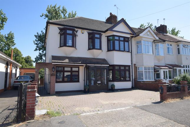 Thumbnail End terrace house for sale in Chadville Gardens, Chadwell Heath, Romford