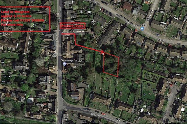 Thumbnail Land for sale in High Street, Wingham, Canterbury