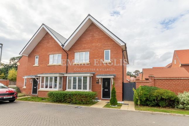 Thumbnail Semi-detached house for sale in Birchwood Drive, Colchester