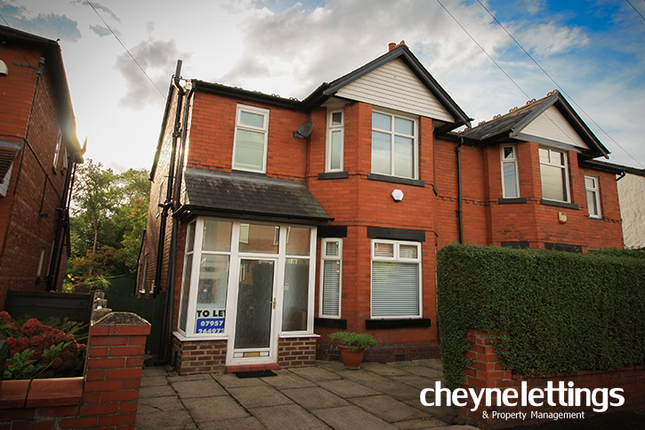 Thumbnail Semi-detached house to rent in Ashburn Road, Stockport