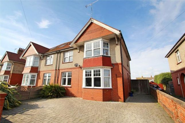 Thumbnail Semi-detached house for sale in Charmandean Road, Broadwater, Worthing
