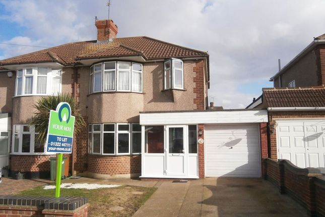 Thumbnail Semi-detached house to rent in Plaxtol Road, Erith