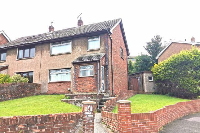 Thumbnail Semi-detached house for sale in Ffordd Yr Eglwys, North Cornelly