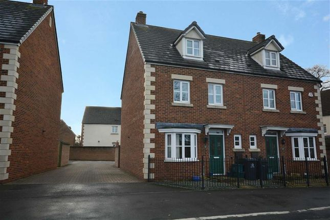 Thumbnail Semi-detached house to rent in Valley Gardens Kingsway, Quedgeley, Gloucester
