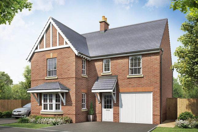 "Thumbnail Detached house for sale in ""Halstead"" at Beggars Lane, Leicester Forest East, Leicester"