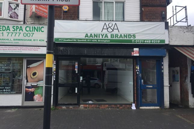 Retail premises to let in Stratford Road, Sparkhill, Birmingham