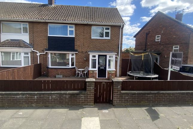Thumbnail Semi-detached house for sale in Harewood Crescent, Whitley Bay