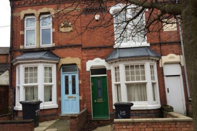 Thumbnail Terraced house to rent in St Leonards Road, Stoneygate, Leicester