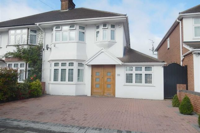 Thumbnail Semi-detached house for sale in Stour Avenue, Norwood Green, Middlesex