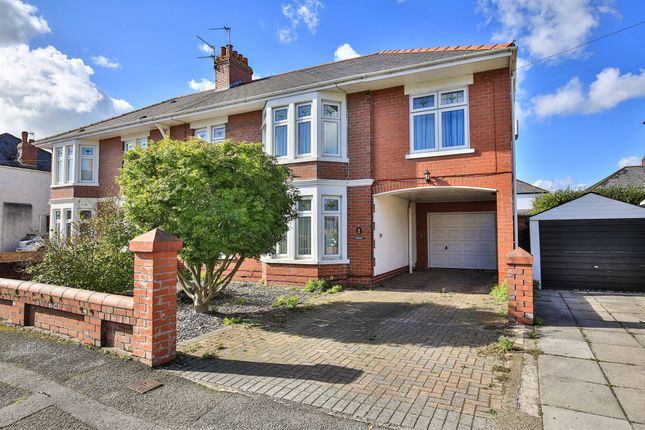 Thumbnail Semi-detached house for sale in St Francis Road, Whitchurch, Cardiff