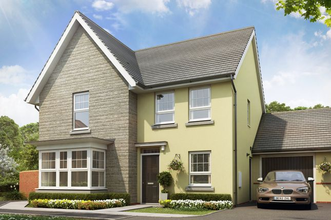 "Thumbnail Detached house for sale in ""Cambridge"" at Tiverton Road, Cullompton"