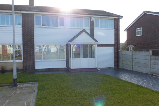 Thumbnail Semi-detached house to rent in Bramall Close, Unsworth, Bury