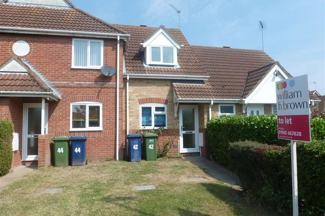 Thumbnail Terraced house to rent in Admirals Drive, Wisbech